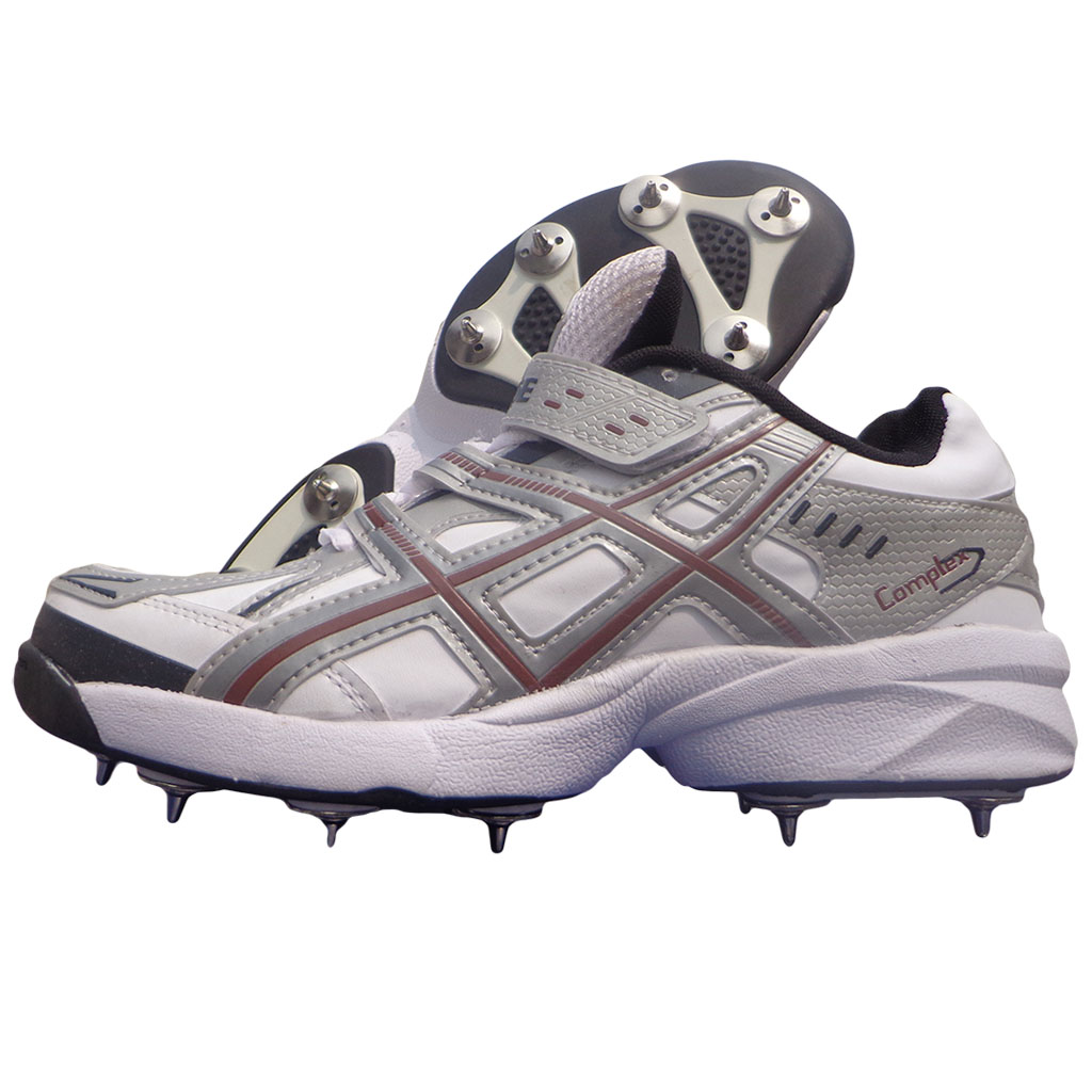 Pro Ase Stud Full Spike Cricket Shoes White And Gray Buy