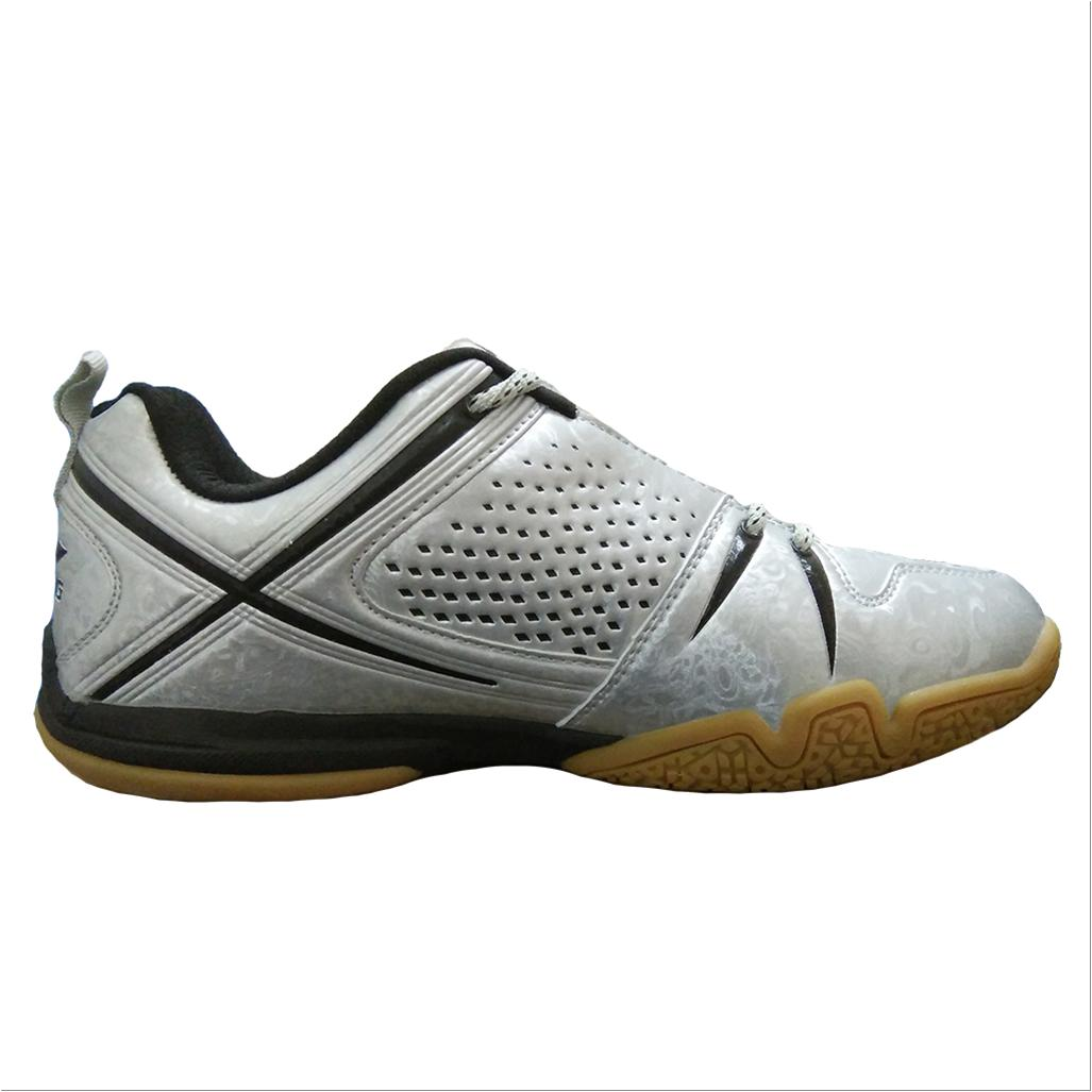 Li Ning Idol Aytl079 Badminton Shoes Silver And Black Online At Lowest S In India