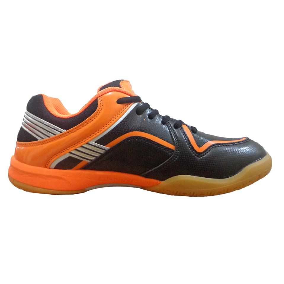 Lining Play Badminton Shoes Orange And Black Online At Lowest S In India Khelmart Com