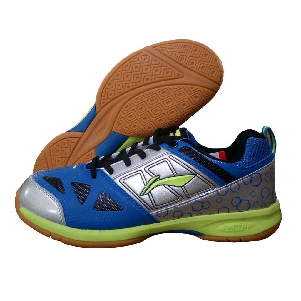 Lining Rio Badminton Shoes Blue And Silver