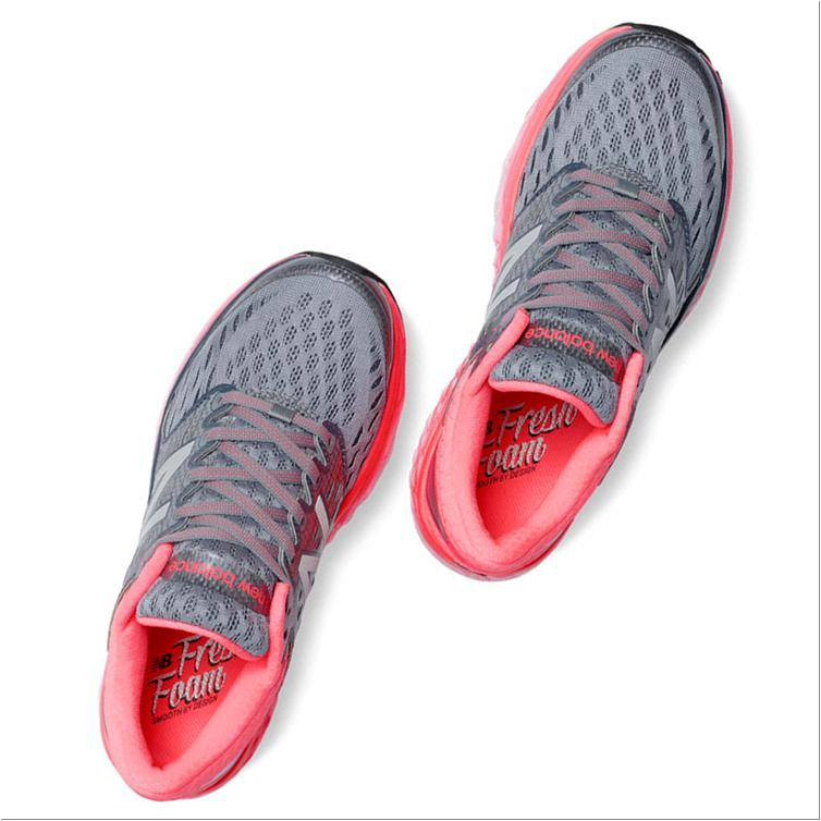 new balance fresh foam 1080 sport shoes silver and pink