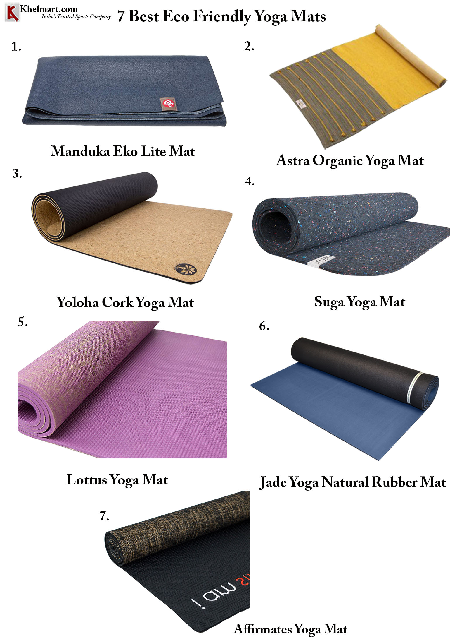 7 Best Eco Friendly Yoga Mats Khelmart Blogs It S All About Sports
