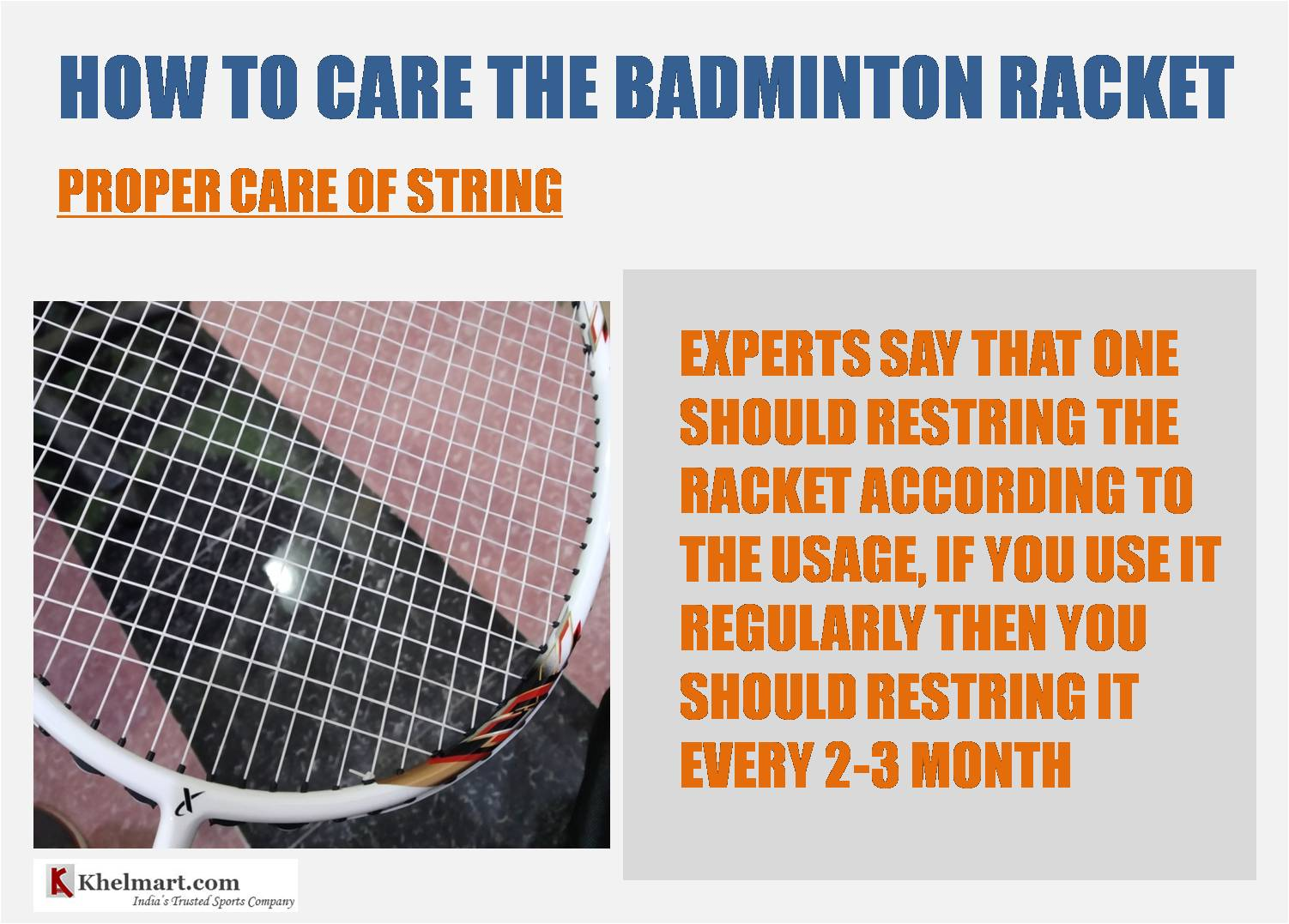 How_to_take_care_of_badminton_racket_String_Care_khelmart_Guide
