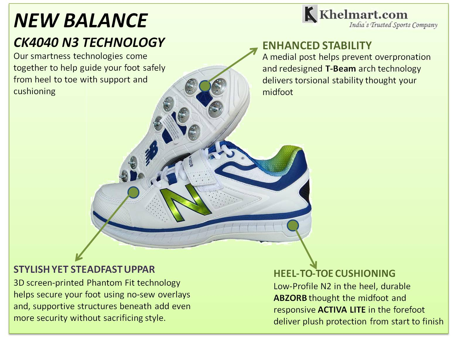 New Balance ck 40 40 n3 chaussures de cricket