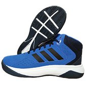 Adidas Cloud Foam Llation Basketball Shoes White Blue and Black