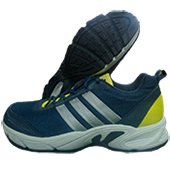 Adidas Albis 1.0 S45064 Running Shoes Navy blue Silver and Lime