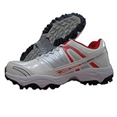 PRO ASE 007 stud Cricket Shoes Red and White