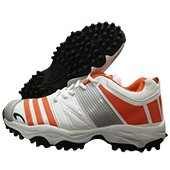 PRO ASE CG 003 stud Cricket Shoes White and Orange