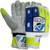 Aver Sweep Cricket Batting Gloves Blue and Lime