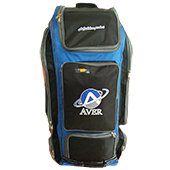 AVER Duffle Combo Cricket Kit Bag Black Blue and Orange