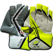 Aver Fusion Cricket Wicket Keeping Gloves Lime