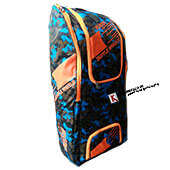 BDM Platers Duffle Pro Wheel Cricket Kit Bag Army Blue and Orange