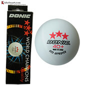 Set of 12 Donic 3 Star Plastic Table Tennis Ball White