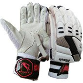 Gravity Ultimate Cricket Batting Gloves White and Black