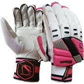 Gravity Ultimate Cricket Batting Gloves White and Pink