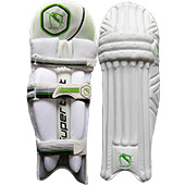 Gravity Super Test Cricket Batting Leg Guard White