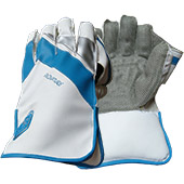 Gravity Signature Wicket Keeping Gloves White and Blue