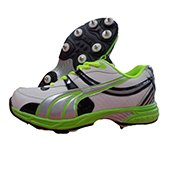 Gravity Full spike Cricket Shoes Green and Creem