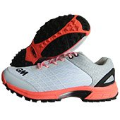 GM Original All Rounder Stud Cricket Shoes White Orange and Gray