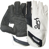 Kookaburra Kahuna Pro 1000 Wicket Keeping Gloves Black White