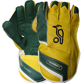 Kookaburra Kahuna Players Cricket Wicket Keeping Gloves Yellow and Green