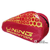 Lining ABDN144 Badminton Kit Bag Red and Yellow