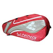 Li Ning ABJF076 2 (P) Badminton kit Bag Red and Gold