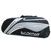 Li Ning ABSL392 7 Badminton kit Bag Black and Silver