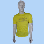 LiNing T Shirt Round Neck with Half sleeve Yellow Size Extra Large Lifestyle