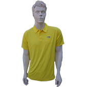 LiNing T Shirt Mens polo Tee half sleeve Yellow Size Large Lifestyle