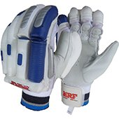 MRF Genius Grand Edition Cricket Batting Gloves White and Blue Left Hand