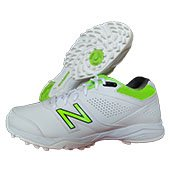 New Balance CK4020 W3 Cricket Shoes White and Fluo Green