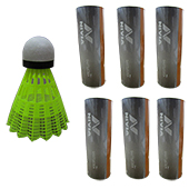 Nivia GX001 Nylon Badminton Shuttlecock Yellow Set of 6