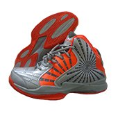 Nivia Phantom Basketball Shoe Gray and Orange