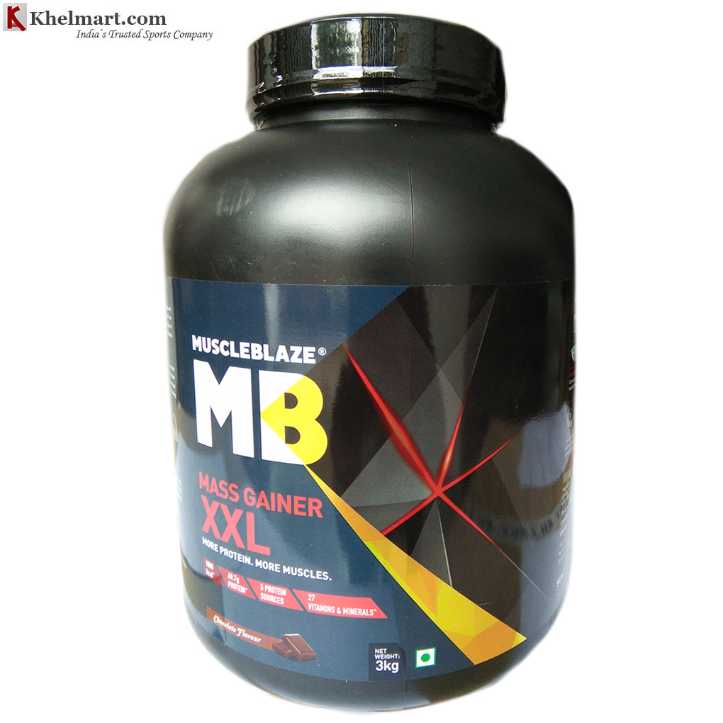 MuscleBlaze Mass Gainer XXL Chocolate 3kg 6.6lbs
