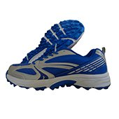 NIVIA Stud Cricket Shoes New EDEN Blue and Silver