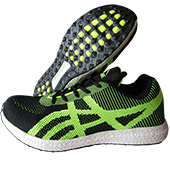 PRO ASE JG026 Jogger Shoes Black and Lime