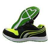 PRO ASE Running Shoes BlacK White and Lime
