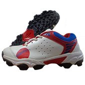 RXN Blaster Stud Cricket Shoes White and Red