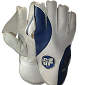 SF Club Cricket Wicket Keeping Gloves Blue White