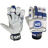 SM Players Pride Batting Gloves White and Blue