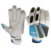 Thrax Limited Edition Batting Gloves White Blue and Black Left Hand