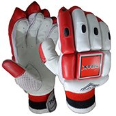 THRAX NEO 11 Cricket Batting Gloves White Black and Red