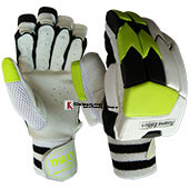 Thrax Reserve Edition Ultra Lightweight Pittard Leather Batting Gloves White Black and Lime