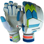 Thrax Reserve Edition Ultra Lightweight Pittard Leather Batting Gloves White Blue and Lime