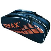 Thrax Revo Badminton Kit Bag Navy blue and Orange
