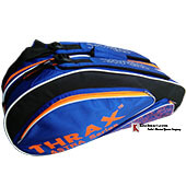 Thrax Astra Series Badminton Kit Bag Black and Blue