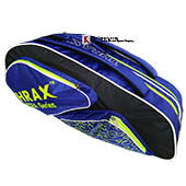 Thrax Astra Series Badminton Kit Bag Black Blue and Lime