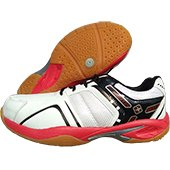 Thrax True Cushion X10 Badminton Shoe White and Red