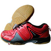 Thrax N Power Neo Badminton Shoe Red and Black